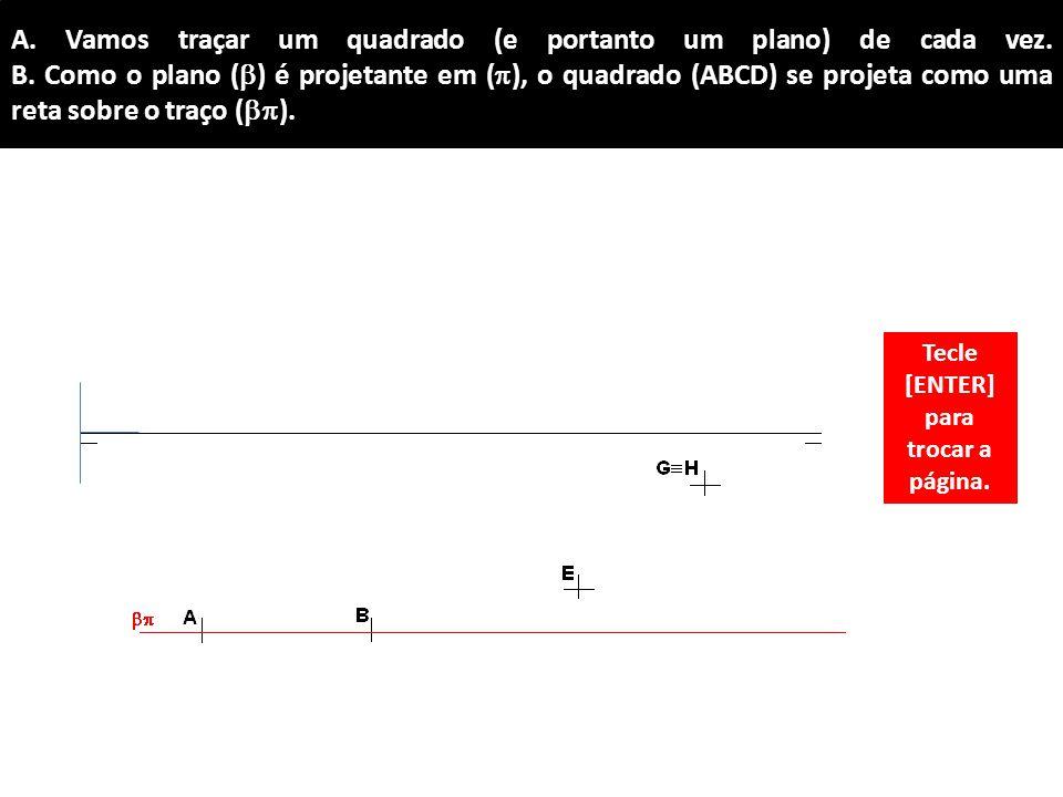 Tecle [ENTER] para trocar a página.